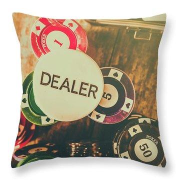 Dealers House Edge Throw Pillow
