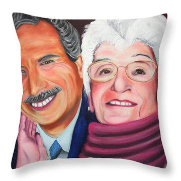Dean And Frances Throw Pillow