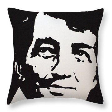 Dean Martin Loving Life Throw Pillow by Robert Margetts