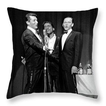 Dean Martin, Sammy Davis Jr. And Frank Sinatra. Throw Pillow