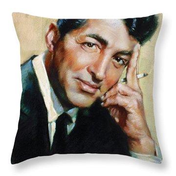 Dean Martin Throw Pillow by Ylli Haruni