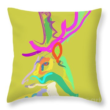 Dear Deer Throw Pillow by Go Van Kampen