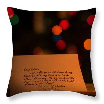 Dear Editor Throw Pillow by Chris Bordeleau