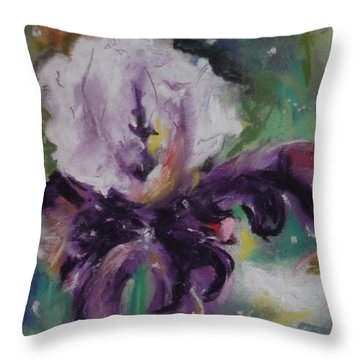 Dear Iris Throw Pillow