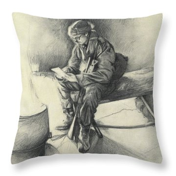 Letter From Home Throw Pillow