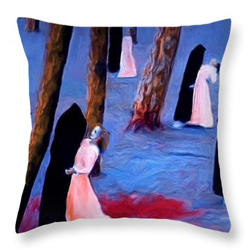 Death And The Maidens Throw Pillow