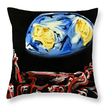 Throw Pillow featuring the painting Death By Starlight by Ryan Demaree