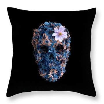 Skull 9 T-shirt Throw Pillow by Herb Strobino