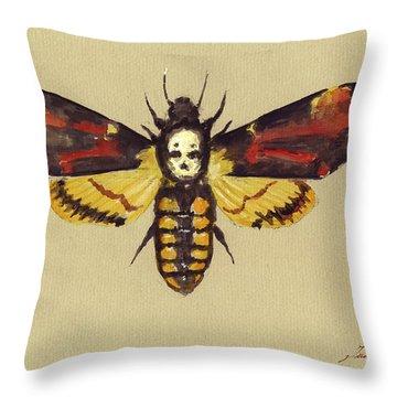 Death Head Hawk Moth Throw Pillow