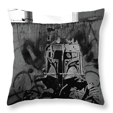 Death In Alleys  Throw Pillow