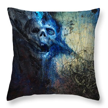 Death Is Staring At Me Throw Pillow