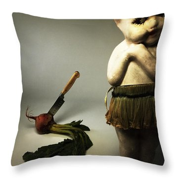 Death Of A Vegetable Throw Pillow