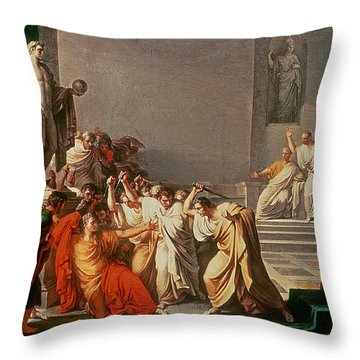 Death Of Julius Caesar Throw Pillow by Vincenzo Camuccini