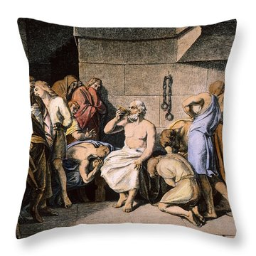 Death Of Socrates Throw Pillow by Granger