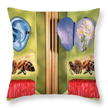 Death Of The Canadian Bee Throw Pillow