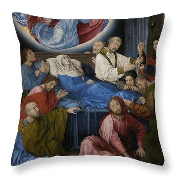 Death Of The Virgin Throw Pillow