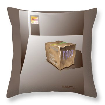 Death Of Trust Throw Pillow