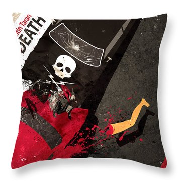 Death Proof Quentin Tarantino Movie Poster Throw Pillow
