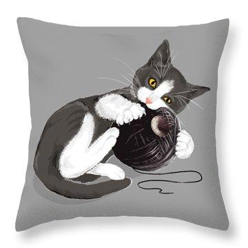 Death Star Kitty Throw Pillow