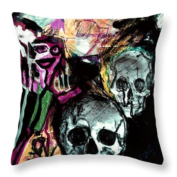 Death Study-2 Throw Pillow