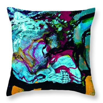 Death Study-4 Throw Pillow