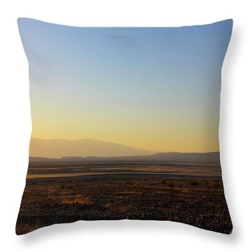Death Valley -  A Beautiful But Dangerous Place Throw Pillow by Christine Till
