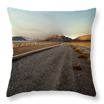 Death Valley Hitch Hiker Throw Pillow by Gary Warnimont