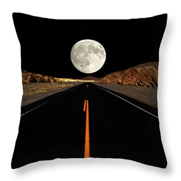 Death Valley Moon Rise Throw Pillow