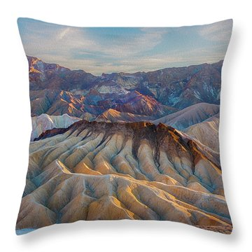 Death Valley Palette  Throw Pillow