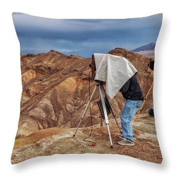 Throw Pillow featuring the photograph Death Valley Photographers by Jim Dollar