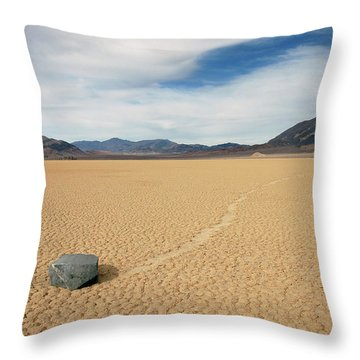 Throw Pillow featuring the photograph Death Valley Ractrack by Breck Bartholomew