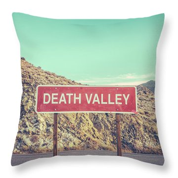 Death Valley Sign Throw Pillow