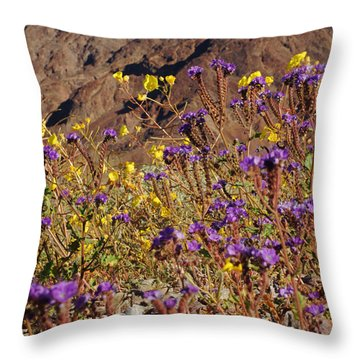 Death Valley Superbloom 401 Throw Pillow