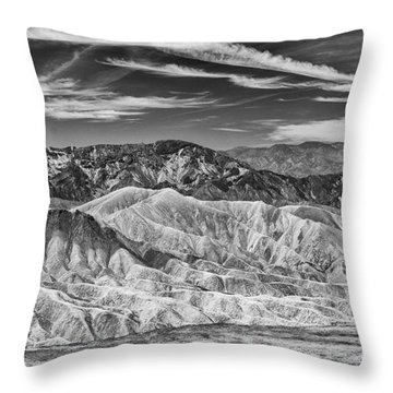 Deathvalley Cracks And Ridges Throw Pillow