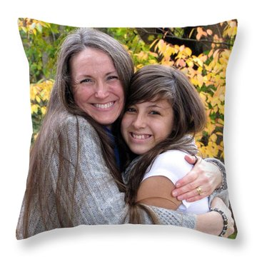 Throw Pillow featuring the photograph Deb And Sharron by Sean Griffin