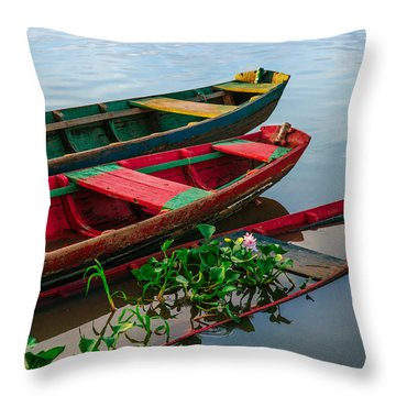 Decaying Boats Throw Pillow by Celso Bressan