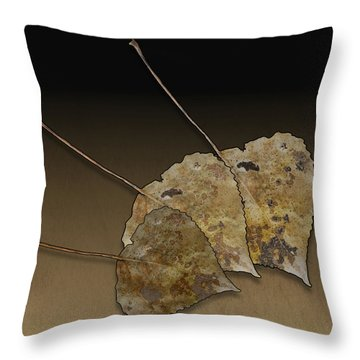 Throw Pillow featuring the photograph Decaying Leaves by Joe Bonita