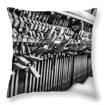 Decaying Piano Throw Pillow