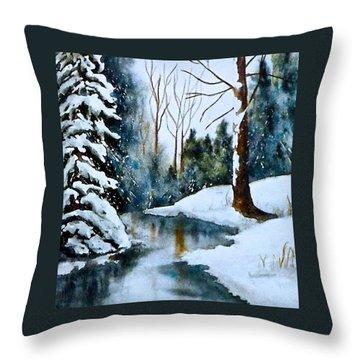 December Beauty Throw Pillow