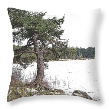 December Dancer Throw Pillow