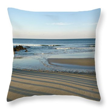 December Evening Shadows Throw Pillow