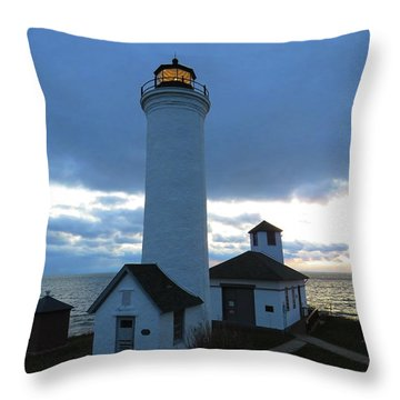 December Light, Tibbetts Point  Throw Pillow