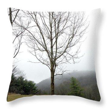 December Mist Throw Pillow