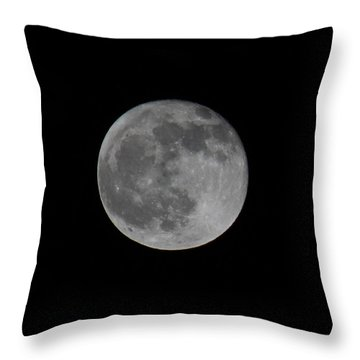 December Moon Throw Pillow