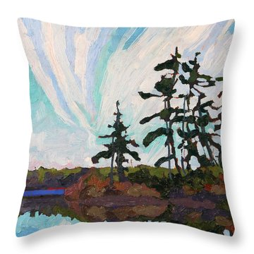 December Morn Throw Pillow by Phil Chadwick