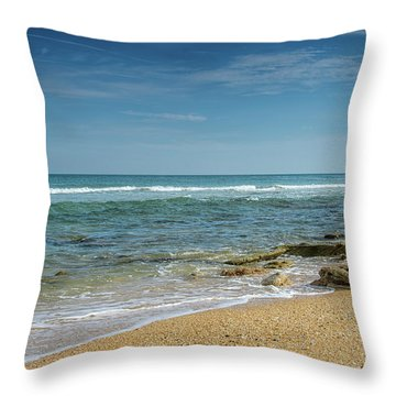 December Ocean Throw Pillow