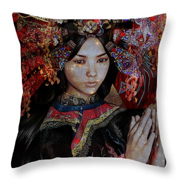 December Vision Throw Pillow