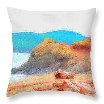 December's Shore Throw Pillow