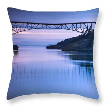Deception Pass Blues Throw Pillow