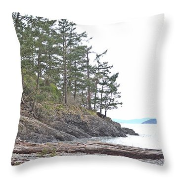 Deception Pass In Late December  Throw Pillow